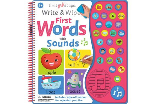 First Words with Sounds - First Steps Write & Wipe - 9781488937750
