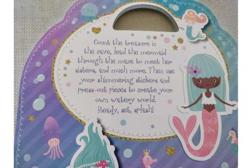 Mermaid Sticker Activity Carry Case Bookoli back cover