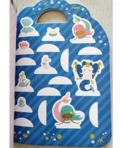 Mermaid Sticker Activity Carry Case Bookoli press and play pages (1)
