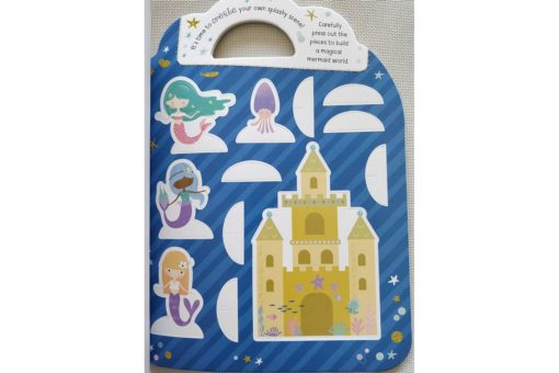 Mermaid Sticker Activity Carry Case Bookoli press and play pages (2)