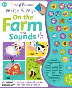 On the Farm with Sounds - First Steps Write & Wipe - 9781488937804