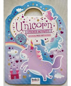 Unicorn Sticker Activity Carry Case Bookoli Cover