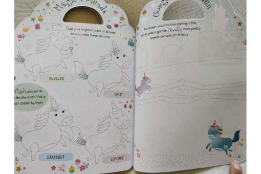 Unicorn Sticker Activity Carry Case Bookoli activity pages (4)