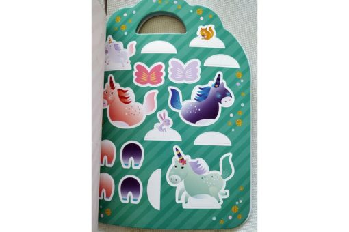 Unicorn Sticker Activity Carry Case Bookoli cut outs page (1)