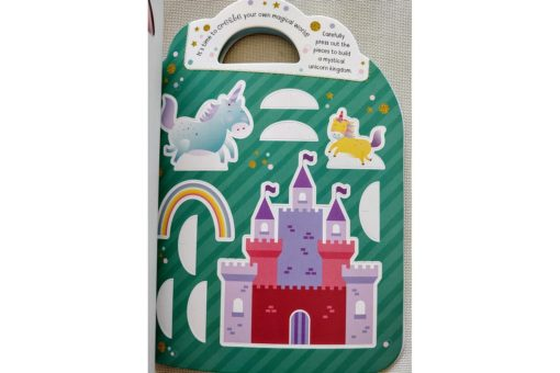 Unicorn Sticker Activity Carry Case Bookoli cut outs page (2)