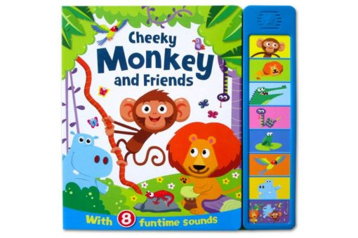 Cheeky Monkey and friends Sound Book cover 9781786707765
