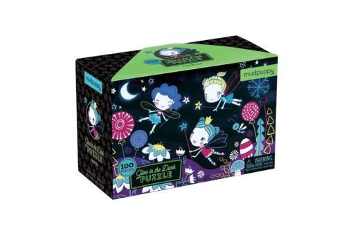 Fairies Glow in the Dark Puzzle 100 pieces Mudpuppy 9780735347472 Box Packing