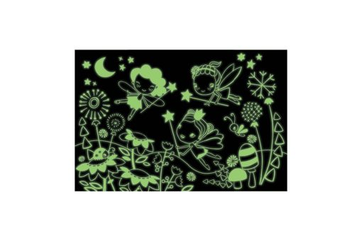 Fairies Glow in the Dark Puzzle 100 pieces Mudpuppy 9780735347472 glowing