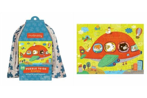 Mudpuppy Airplanes Puzzle to Go 9780735345997 puzzle and bag