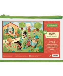 Mudpuppy Puppy Playtime Pouch Puzzle 9780735342101 Cover