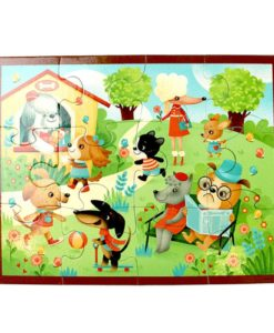 Mudpuppy Puppy Playtime Pouch Puzzle 9780735342101 Full Puzzle