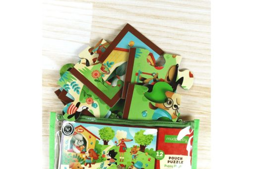 Mudpuppy Puppy Playtime Pouch Puzzle 9780735342101 Large Pieces