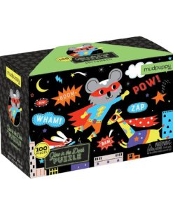 Superhero Glow in the Dark Puzzle 100 pieces 9780735354012 Box packing