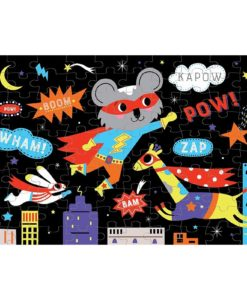 Superhero Glow in the Dark Puzzle 100 pieces 9780735354012 full picture inside