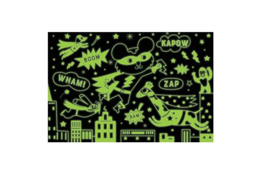 Superhero Glow in the Dark Puzzle 100 pieces 9780735354012 glowing