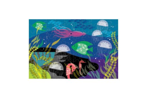 Under the Sea Glow in the Dark Puzzle 100 pieces 9780735345744 full picture