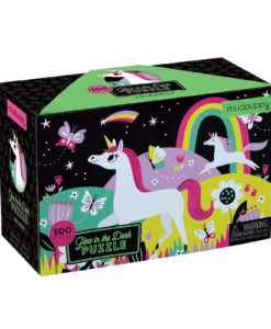 Unicorn Glow in the Dark Puzzle 100 pieces 9780735345751 Box Packing