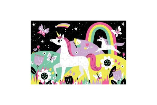 Unicorn Glow in the Dark Puzzle 100 pieces 9780735345751 full picture