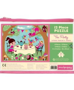 mudpuppy tea party pouch puzzle cover