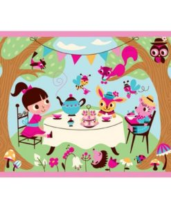 mudpuppy tea party pouch puzzle inside