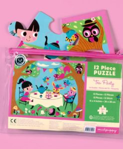 mudpuppy tea party pouch puzzle open