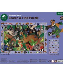 mudpuppy woodland forest search find puzzle 9780735355798 - back