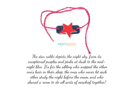 star rakhi with text