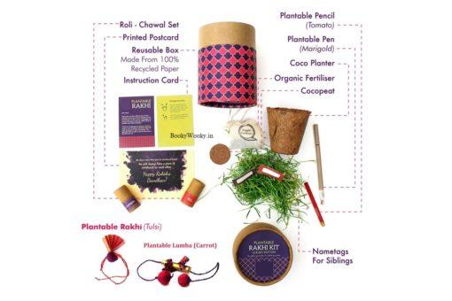 Luxury Kit for Bhabhi with Lumba and Rakhi contents