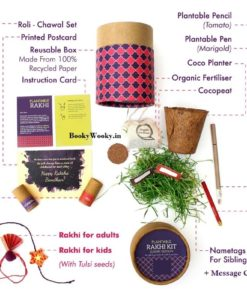Plantable Rakhi Luxury Kit for Kids contents
