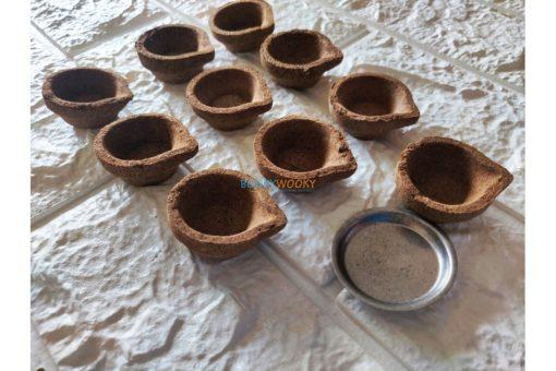 Organic Diwali Diyas without ghee – Pack of 10 (1)