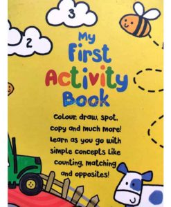 My First Activity Book Parragon Start Little Learn Big 9781472391643 back cover