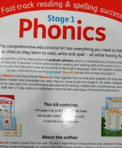 Stage 1 Phonics Kit by Hinkler 9781488934704 back