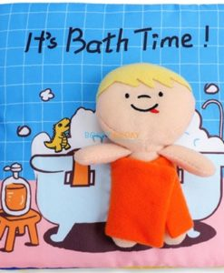 It's Bath Time Cloth Book Quiet Book