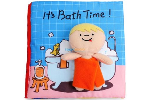 It's Bath Time Cloth Book Quiet Book