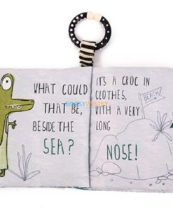 Beside the sea Green Octopus cloth book inside 1