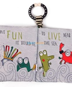 Beside the sea Green Octopus cloth book inside 4