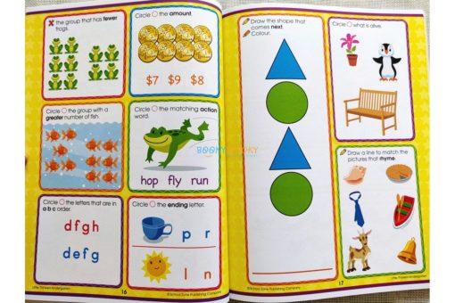 Little Thinkers Kindergarten Workbook Green Cat 9781743637852 inside