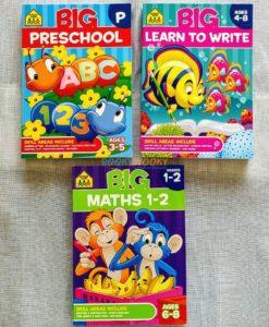 School Zone Big workbooks Math Preschool Learn to Write