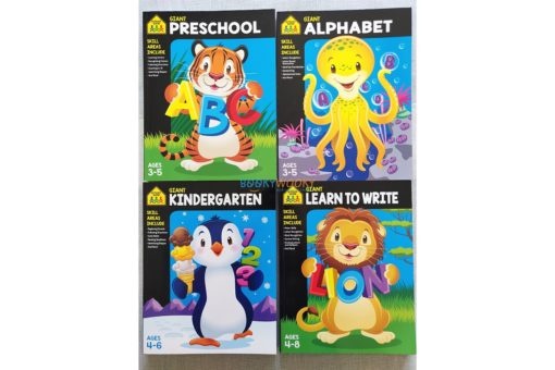School Zone Giant Workbooks Giant Preschool Giant Alphabet Workbook Kindergarten Learn to Write
