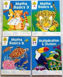 School Zone Maths workbooks - Set of 4 preschool level