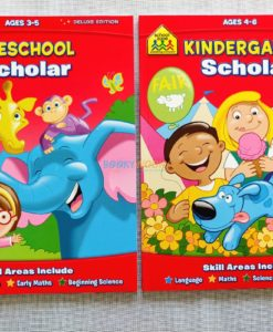 School Zone Preschool Kindergarten Scholar Workbooks
