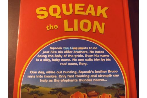 Squeak the Lion 9780857264381 back cover