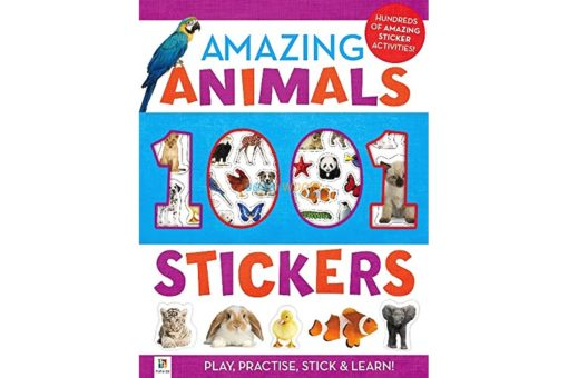 1001 Stickers Amazing Animals 9781743677001 cover page