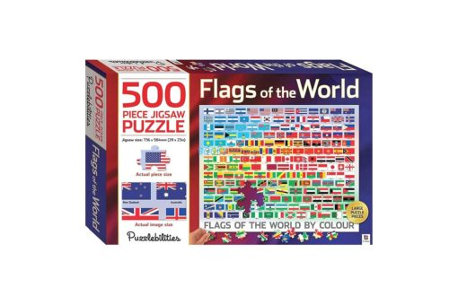 500 Piece Jigsaw Puzzle Flags of the World 9781488933721 cover page