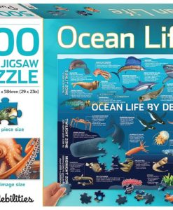 500 Piece Jigsaw Puzzle Ocean Life 9781488933714 cover page