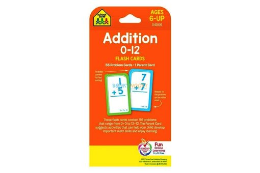 Addition 0-12 Flash Cards back cover
