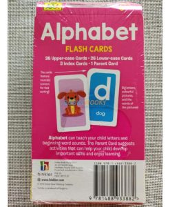 Alphabet Flash Cards back cover