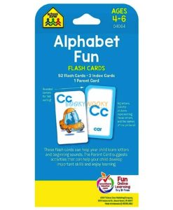 Alphabet Fun Flash Cards back cover