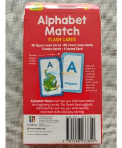 Alphabet Match Flash Cards back cover