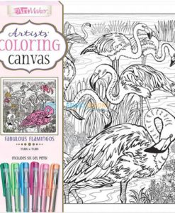 Art Maker Artists Coloring Canvas Fabulous Flamingos 9781488976193 cover page
